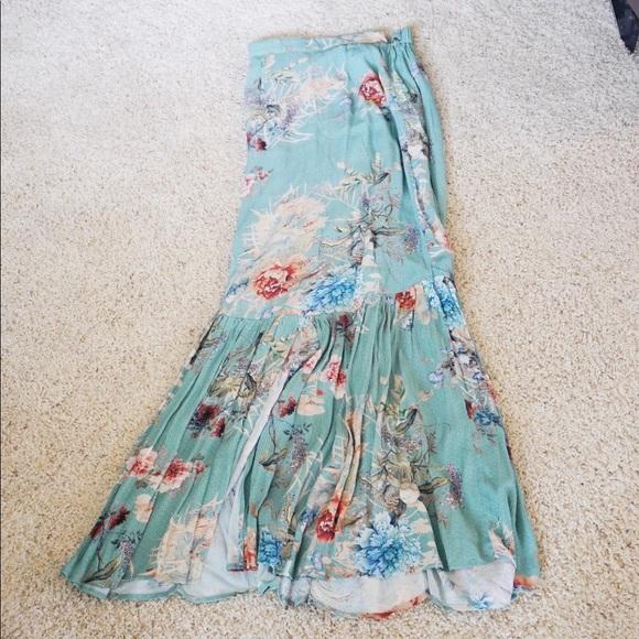 Anthropologie Dresses & Skirts - Anthropologie NWT floral printed embellished skirt